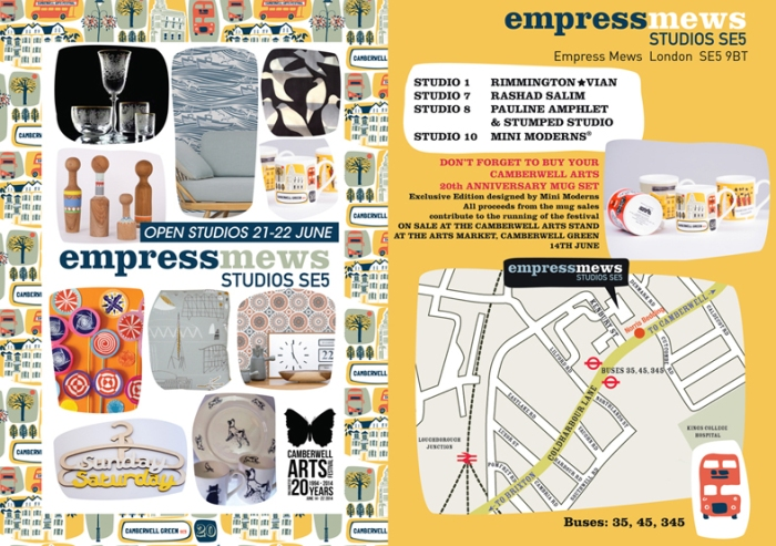 Mini Moderns Open Studio 21 - 22 June.