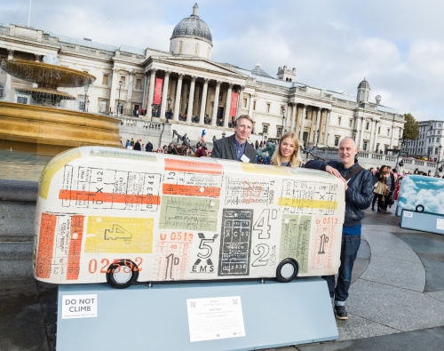 Mini Moderns and our 'Hold Tight' bus sculpture.